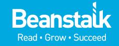Logo for Beanstalk reading charity.