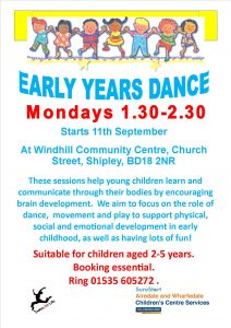 Early Years Dance poster